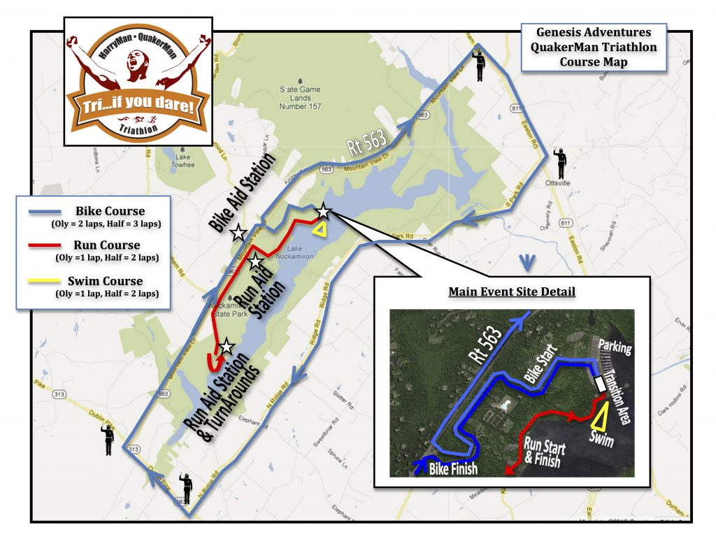 QuakerMan Course Map